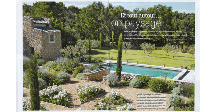 Magazine houses and decor landscape architect thomas for Creation jardin provencal
