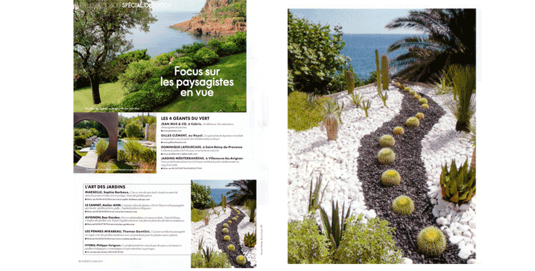 Magazine elle decoration landscape architect thomas gentilini design gard - Decoration petit jardin ...