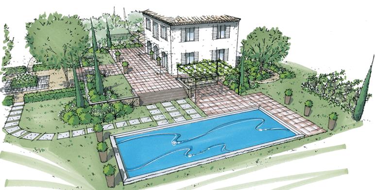 Comment dessiner un jardin facile for Jardin dessin