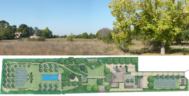 Jardin privatif à Puyricard, Aix en Provence – 7.000 m2
