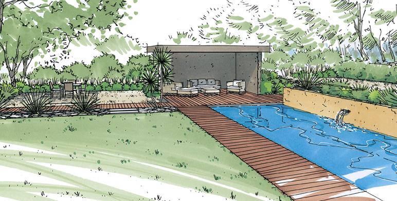 Campagne de Venelles, un jardin contemporain méditerranéen