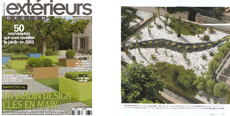 Parution ext rieur design magazine outdoor nov dec for Jardin design exterieur