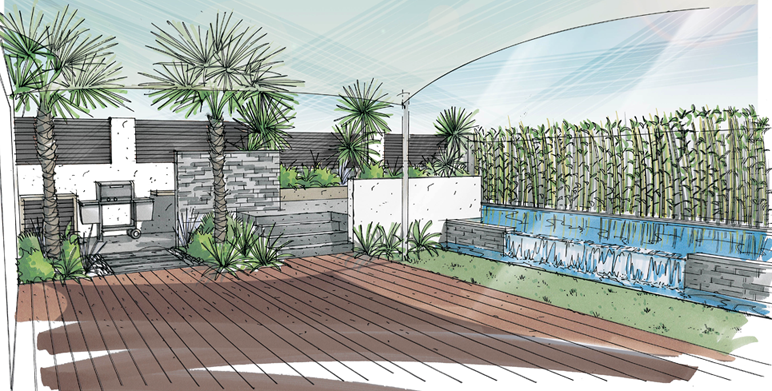 Piscine architecte paysagiste thomas gentilini for Jardin 200m2