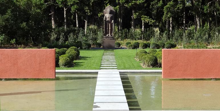 Jardin contemporain aux inspirations asiatiques, St Rémy de Provence