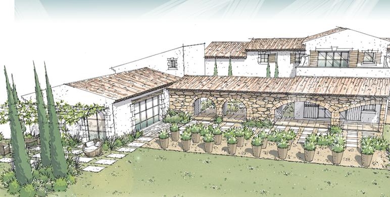 Jardin avec vue sur les alpilles eygalli res architecte - Architecte paysagiste aix en provence ...