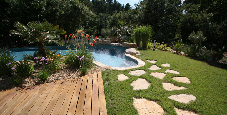 Jardin privé, Mimet (13) - Architecte Paysagiste Thomas ...