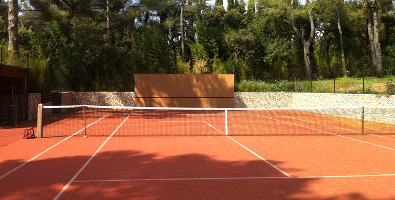 Court de tennis & Pool House