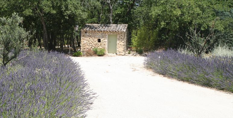 jardin provençal privé, Gordes (84)