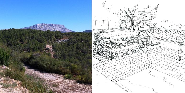 Jardin privatif sur un terrain de 2 ha à Aix en Provence