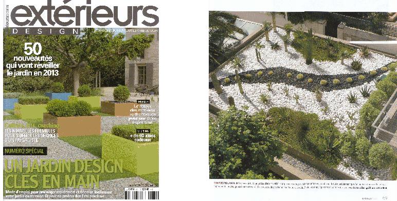 """Parution """" Extérieur design"""" magazine outdoor (nov./dec. 2012)"""