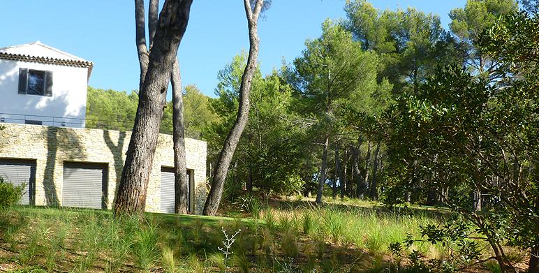 Jardin méditerranéen moderne, Aix en Provence