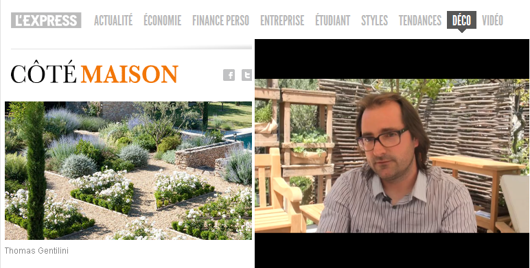 """Interview Thomas Gentilini sur """"Côté Maison . fr"""" : Jardin méditerranéen : comment l'aménager?"""