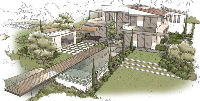 Jardin contemporain, Aix en Provence - Architecte Paysagiste ...
