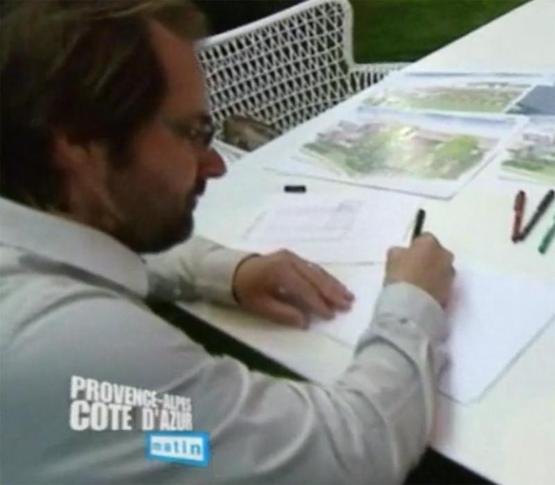Thomas Gentilini en Direct sur France 3 dans l'émission Provence-Alpes-Côte d'Azur